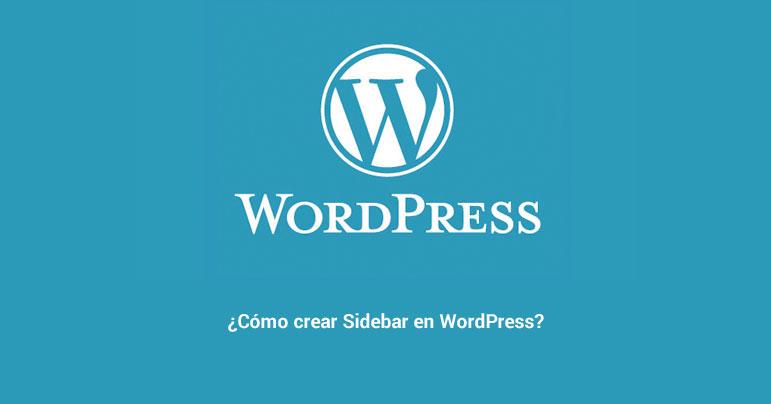 Cómo crear sidebar en WordPress