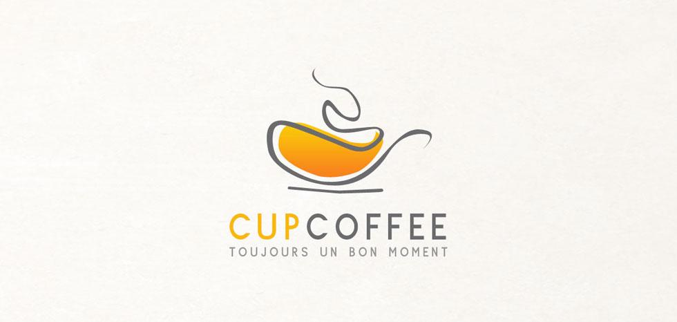 Diseño logo cup coffee