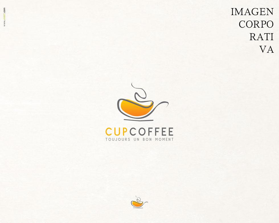 diseño de logotipo cup coffee