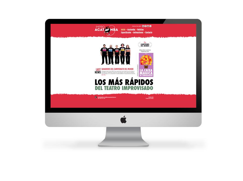 Páginas Web Barcelona Impro Acatamba