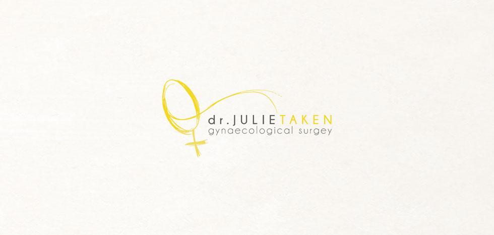 diseño logo julie taken