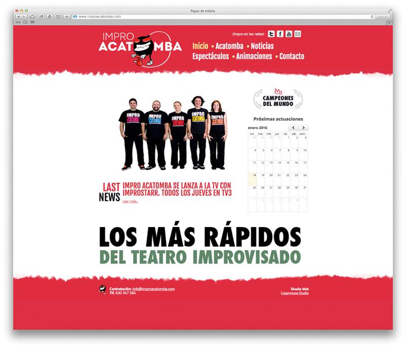 Páginas web Barcelona improacatomba
