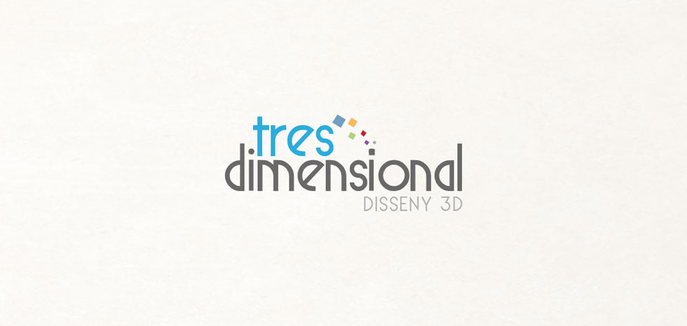 diseño logo tres dimensional