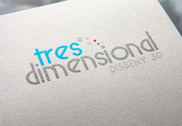 Tres Dimensional Diseño Logotipos Barcelona