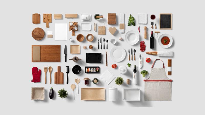 Mockup mesa de comidas