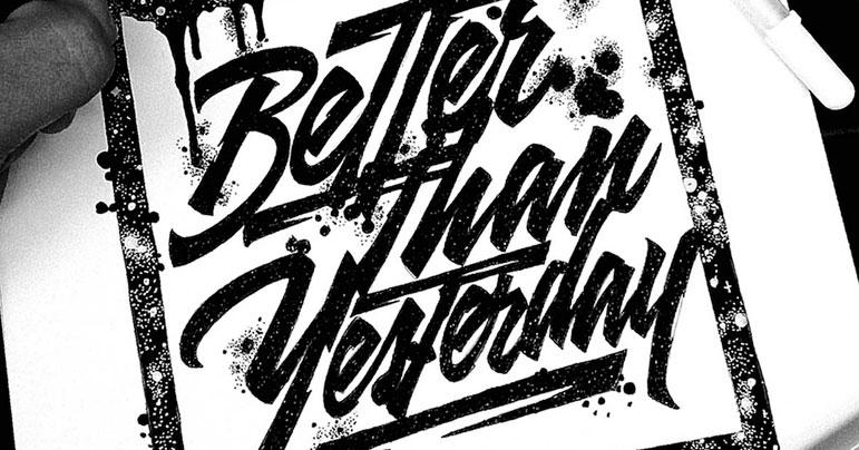 ilustración mezclada con tipografía