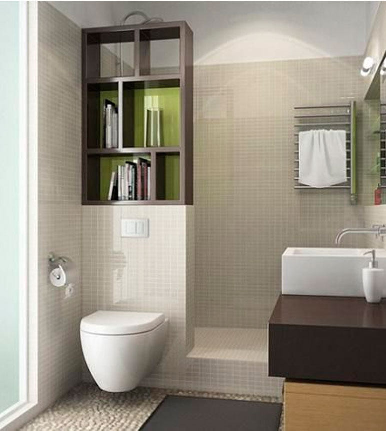 55 ideas de ba os geniales for Salle de bain wc 2m2