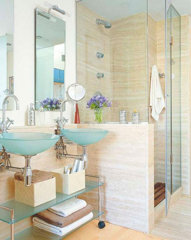 55 ideas de ba os geniales for Banos modernos con ducha fotos