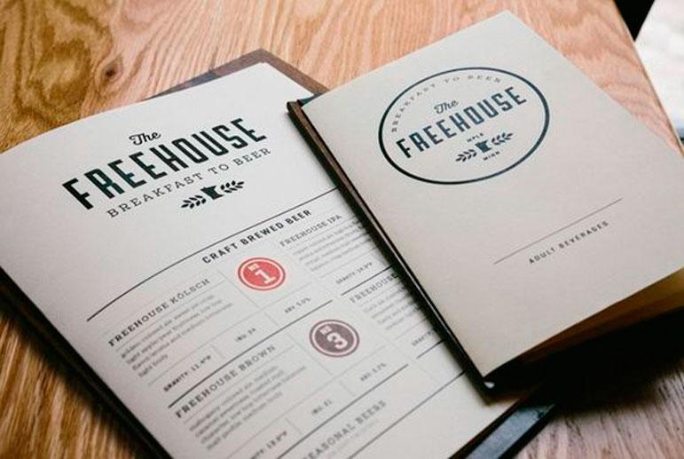 Diseño menús restaurante