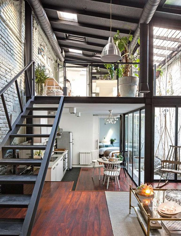 28 geniales ideas para decorar tu loft dise o de interiores for Case loft