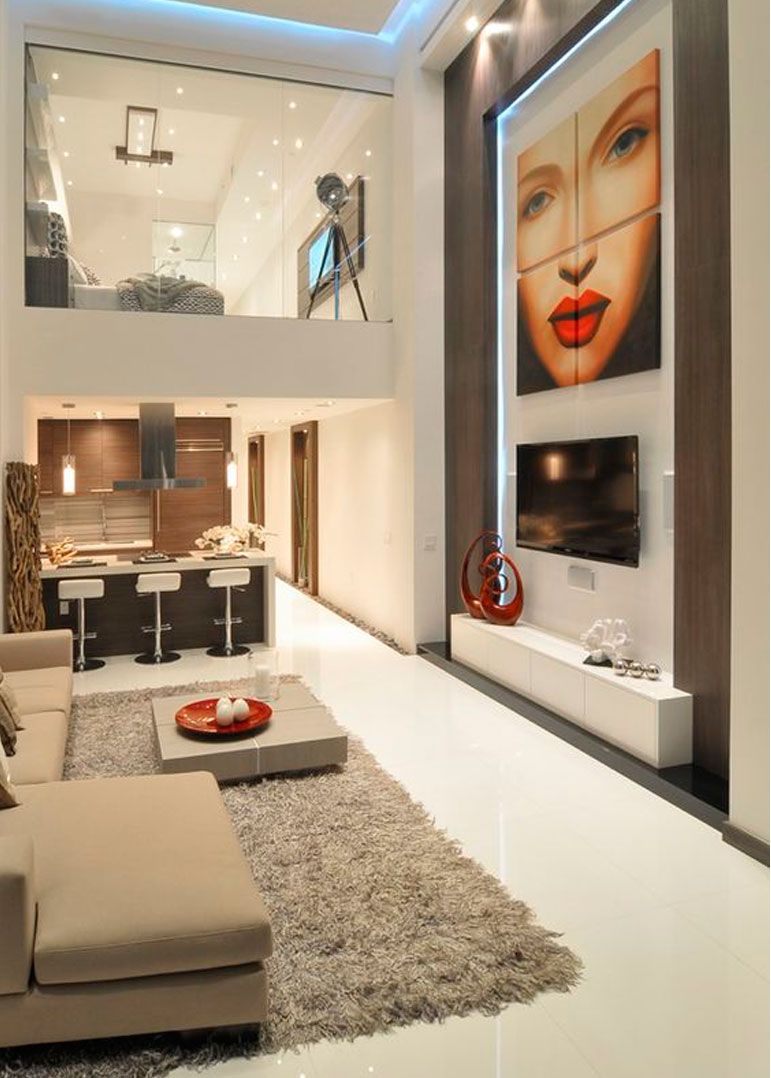 28 geniales ideas para decorar tu loft - Ideas para decorar una pared ...