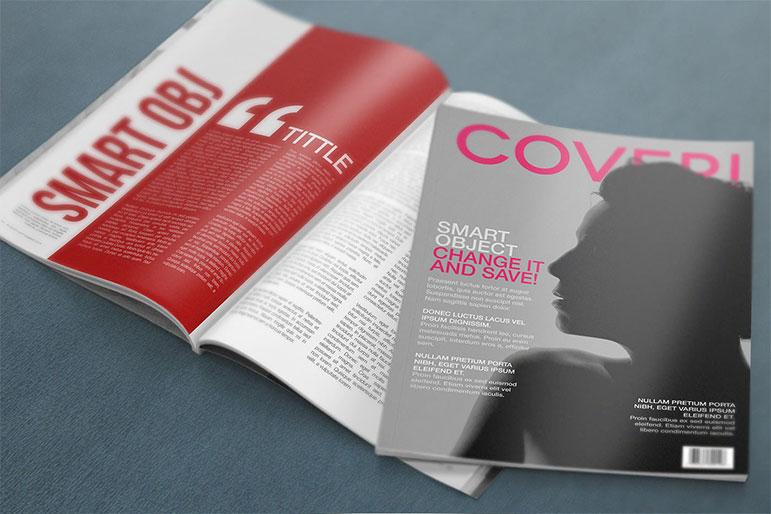 Mockup para magazine
