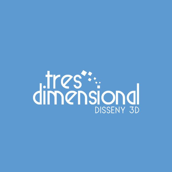 Diseño logotipo tres dimensional