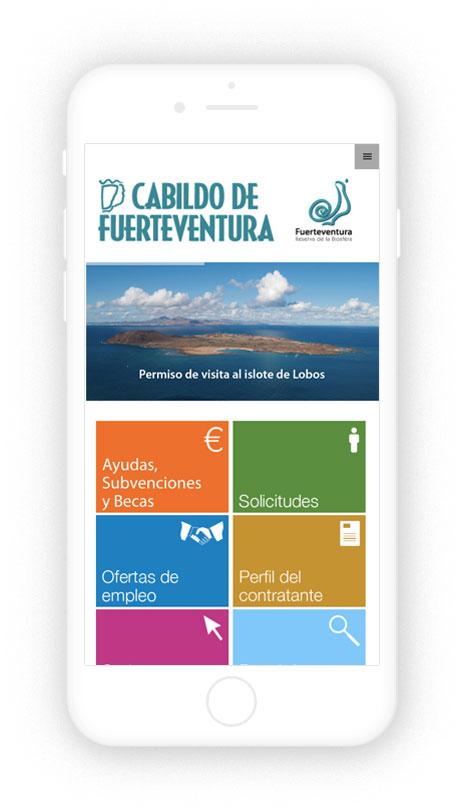 Programación WordPress del Cabildo de Fuerteventura