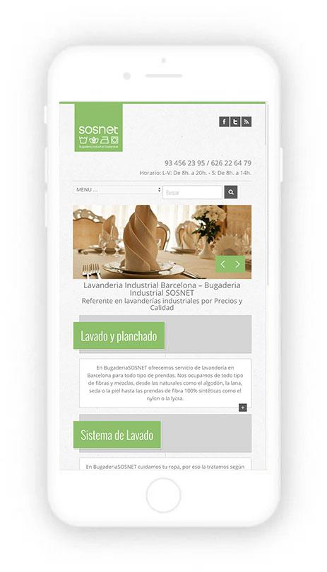 Posicionamiento nartural web de la lavandería SOSNET de Barcelona